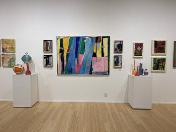 The FRANK Gallery holiday exhibit highlights the work of both members of the FRANK and new artists to the gallery. The exhibit will run until Jan. 4, 2020. Photo courtesy of Natalie Knox.