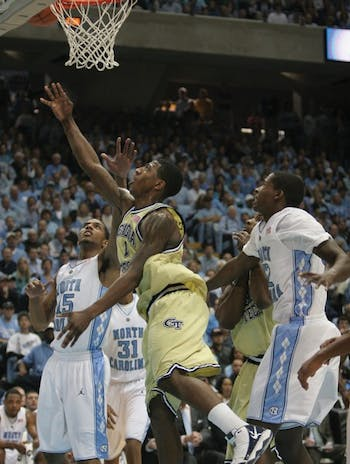 Georgia Tech guard Iman Shumpert torched UNC's defense for a career-high 30 points. DTH/Margaret Cheatham Williams