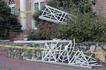 Kenan Dorm fell apart in the wind