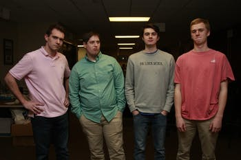 Sports editors from left to right: Chris Hilburn-Trenkle, Jack Frederick, Ryan Wilcox and Holt McKeithan.