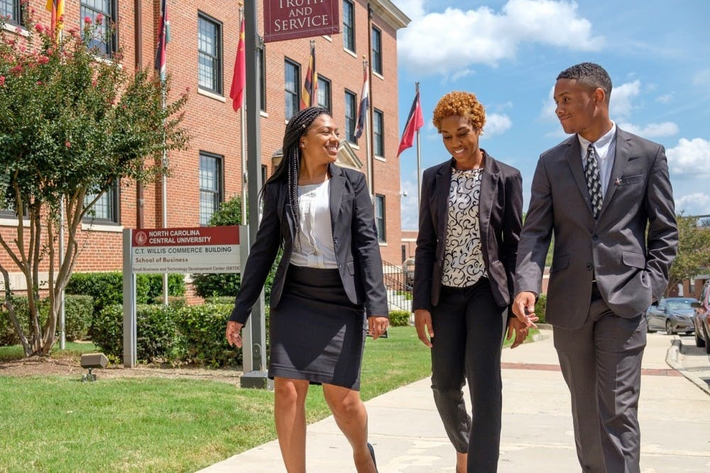 <p>Students at N.C. Central University, one of UNC system's five HBCUs. Photo courtesy of Keisha Williams.&nbsp;</p>