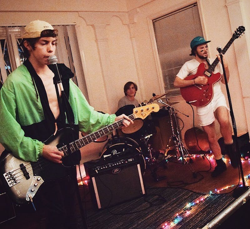 Student band Hostile Merger plays a show in Chapel Hill. CourtesyChristian Cail.