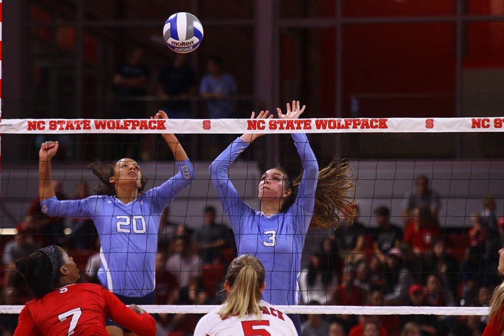 No. 12 UNC volleyball pulls off comeback in 3-2 win over N.C. State