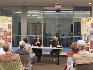 Chapel Hill mayor Mark Kleinschmidt and Carrboro mayor Lydia Lavelle host a panel discussion Monday evening at Mayor & Mayor: A Conversation about LGBTQ Struggles in North Carolina, part of the ACLU-NC 50th Anniversary Exhibit at the Chapel Hill Public Library.