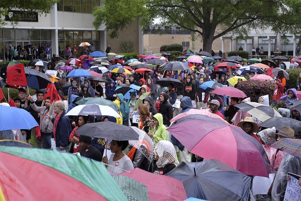 Workers rally in Raleigh