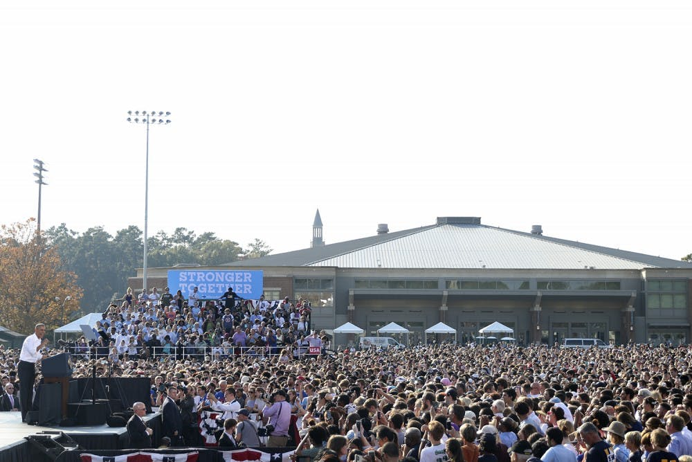 More than 60 people received medical attention at Obama rally