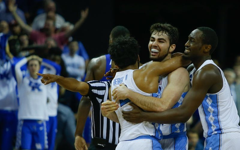 The North Carolina men's basketball team defeated Kentucky 75-73 in their Elite Eight matchup in Memphis on Sunday. Forward Luke Maye (32) hit a game winning shot to give the Tar Heels a two-point lead with 0.3 seconds remaining. The team will travel to Phoenix and face the Oregon Ducks in the Final Four on Saturday.