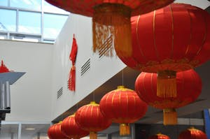 Lanterns hang in the Friday Center during the Chinese New Year Festival on Sunday, February 18th.