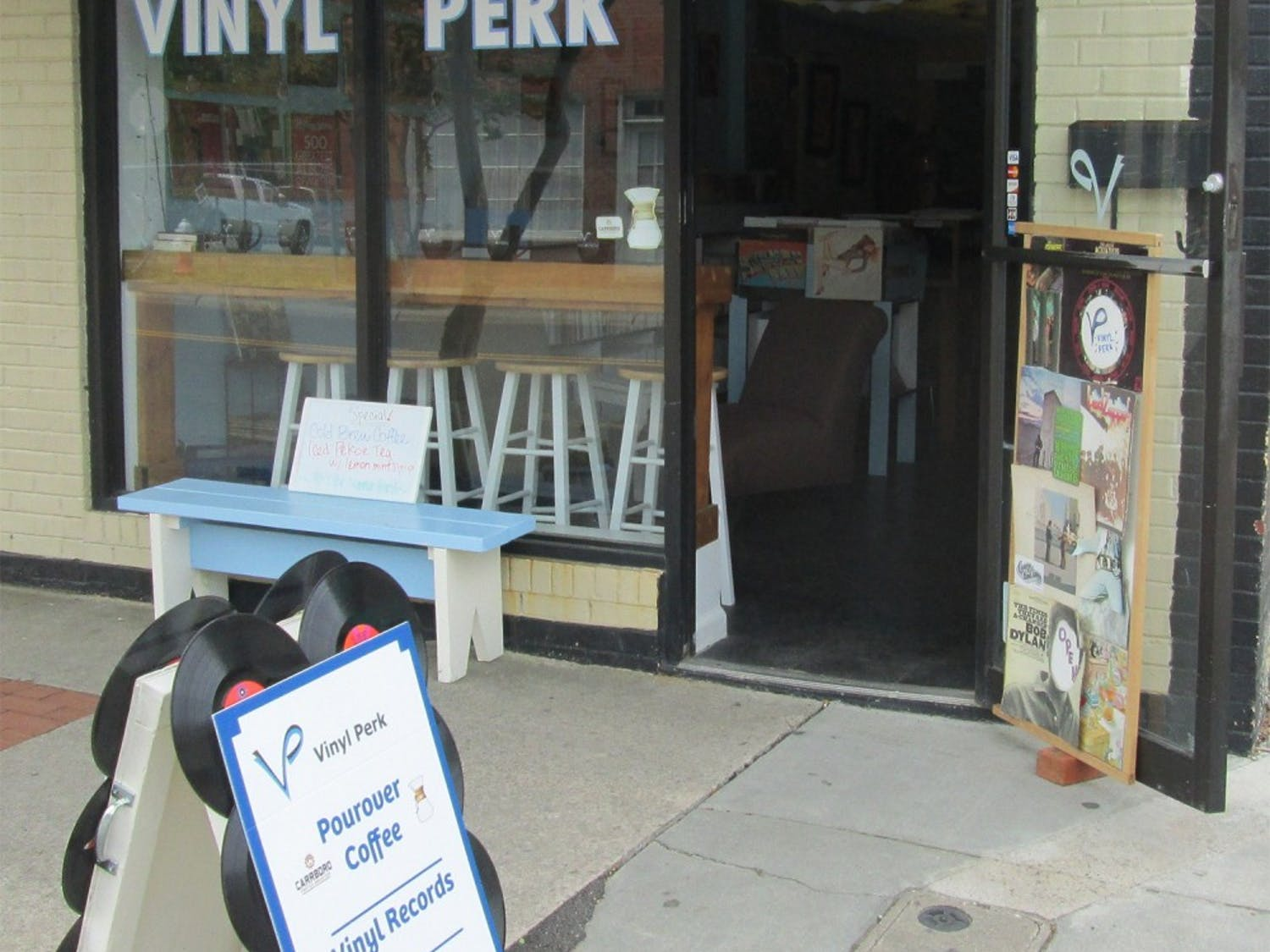 Carrboro's Vinyl Perk will be moving to a new location after its lease ended on June 30. Owner Jay Reeves plans to keep the small business  in the area (Courtesy of Jay Reeves).