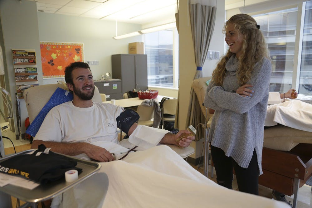 Biology class helps recruit platelet donors for Blood Donation Center