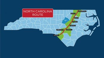 The Atlantic Coast Pipeline will cross through several North Carolina counties. Photo courtesy of N.C. DEQ