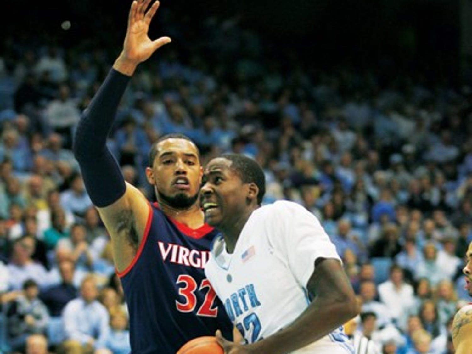 Ed Davis, usually one of UNC's leading scorers, contributed only 4 points in Sunday's loss to Virginia. DTH/Will Cooper