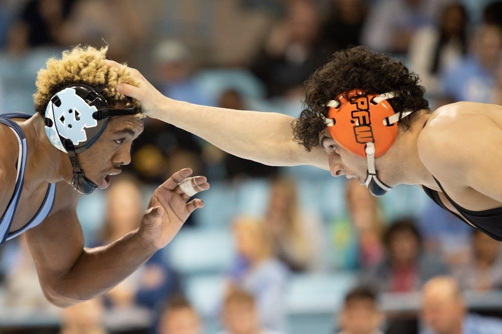 No. 12 UNC wrestling gets upset victory over No. 3 Virginia Tech in Blacksburg