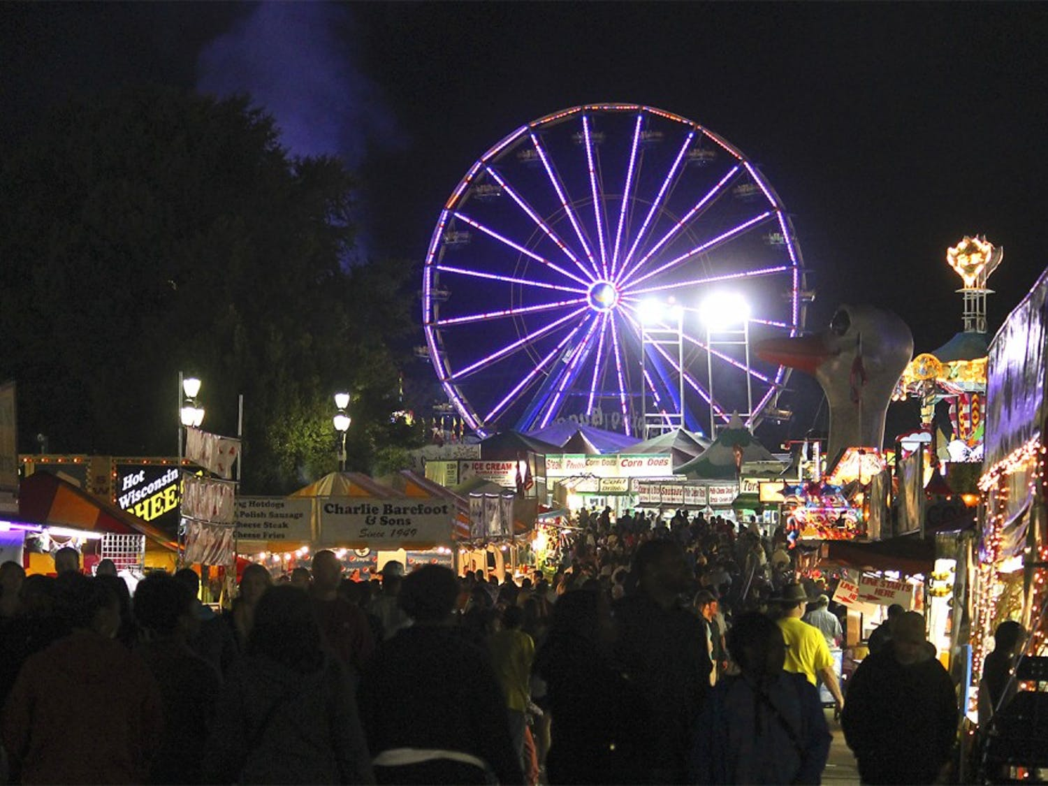 The N.C. State Fair is located on Blue Ridge Road in Raleigh and will be open until October 26th.