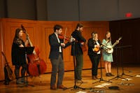 Reese Krome plays the fiddle at the Fall 2017 Carolina Bluegrass Band concert. Photo courtesy of Kandis Johnson.