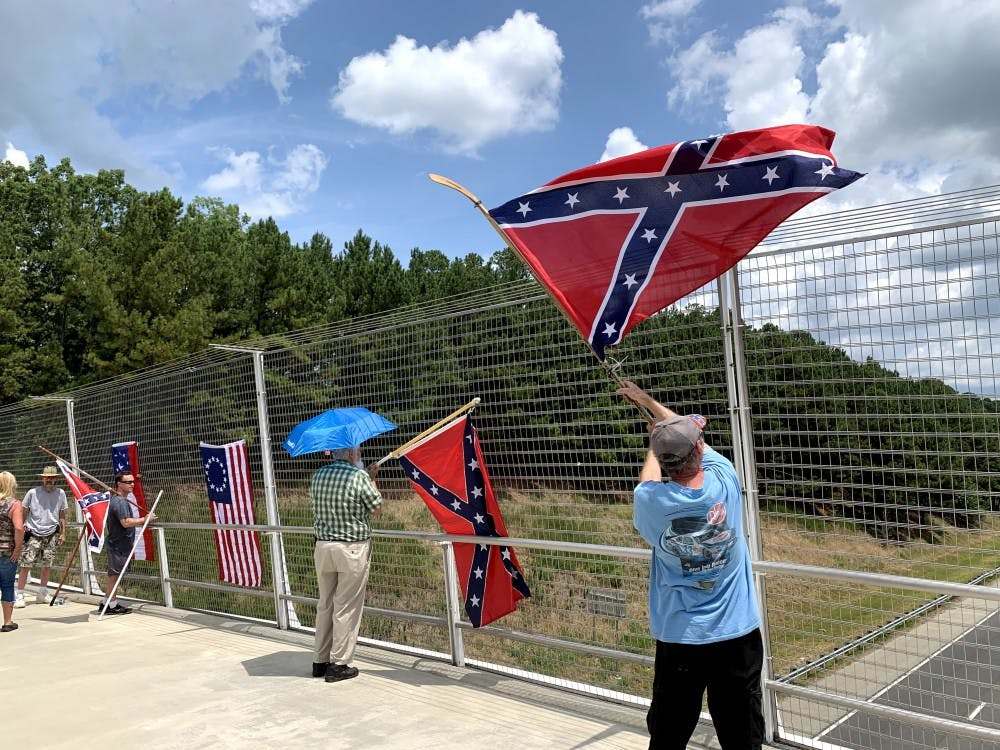 Confederate group avoids counter-protestors in latest demonstration