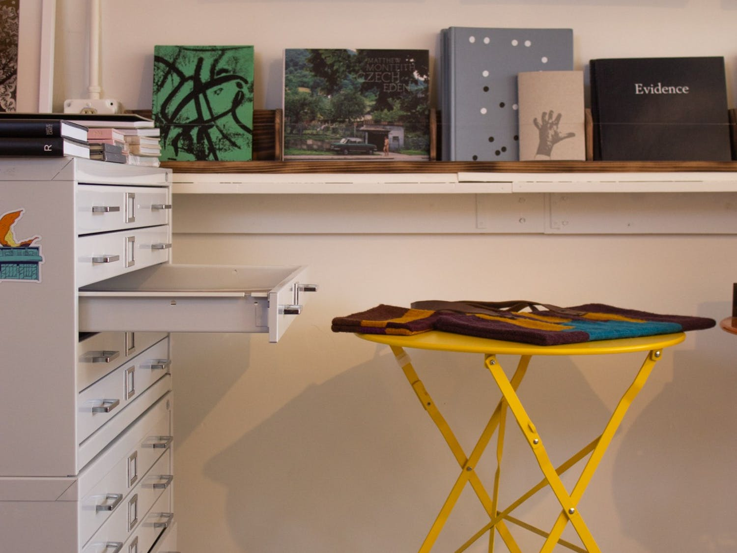 Books are on display at the Peel Gallery located on W.Rosemary Street in Carrboro.