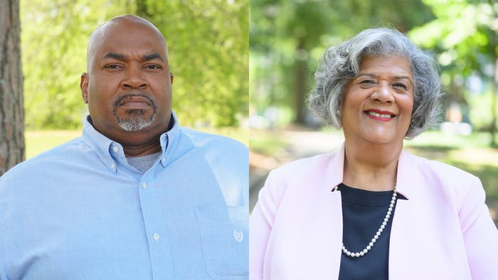 Businessman Mark Robinson (left), Republican, and state representative Yvonne Lewis Holley, Democrat, are the candidates running for N.C. lieutenant governor. Photos courtesy of Robinson and Holley.