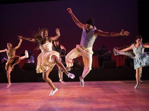 Performers with the Dorrance Dance / New York dance group will take the stage alongside BIGLovely to present The Blues Project at Memorial Hall at 7:30 p.m. tonight and 8 p.m. Friday.Courtesy of Dorrance Dance.