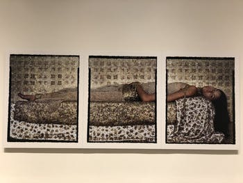 """""""Bullets Revisited #3"""" by Lalla Essaydi."""