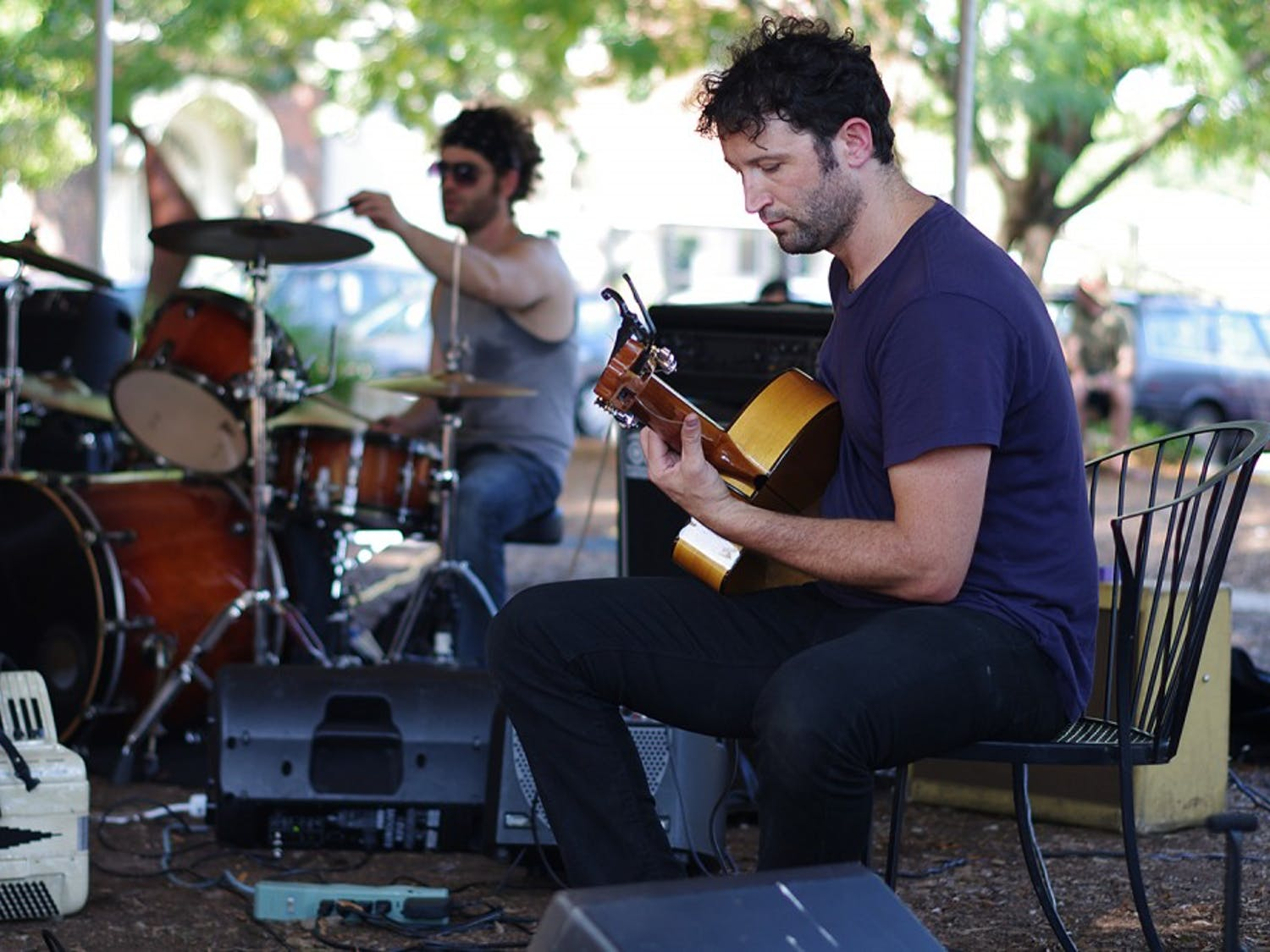 The Weaver Street Market Co-op  Fair happened on Saturday in Carrboro from 3-5 pm. Local companies and producers came together to offer food, live music, and beer and wine samplings.Diago Diaz from Crystal Bright and the Silver Hands, from Greensboro, performed at the co-op.