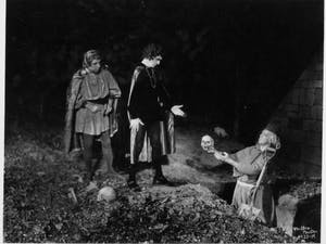 """The Carolina Playmakers present """"Hamlet"""" at the Forest Theatre in 1935. Photo courtesy of the Wilson Library Archives."""