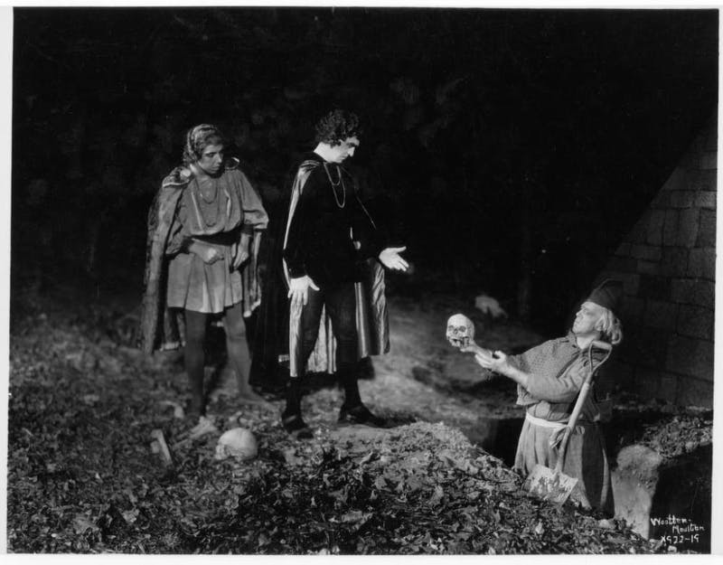 "The Carolina Playmakers present ""Hamlet"" at the Forest Theatre in 1935. Photo courtesy of the Wilson Library Archives."