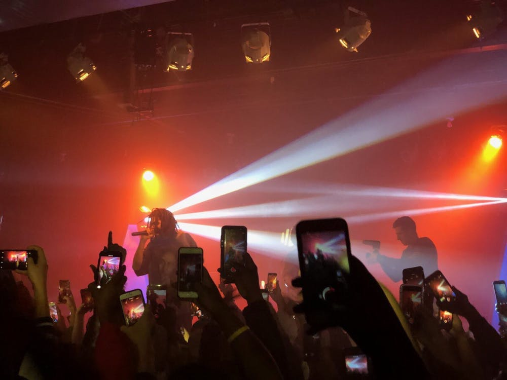 J.Cole makes surprise appearance at Cat's Cradle Bas concert