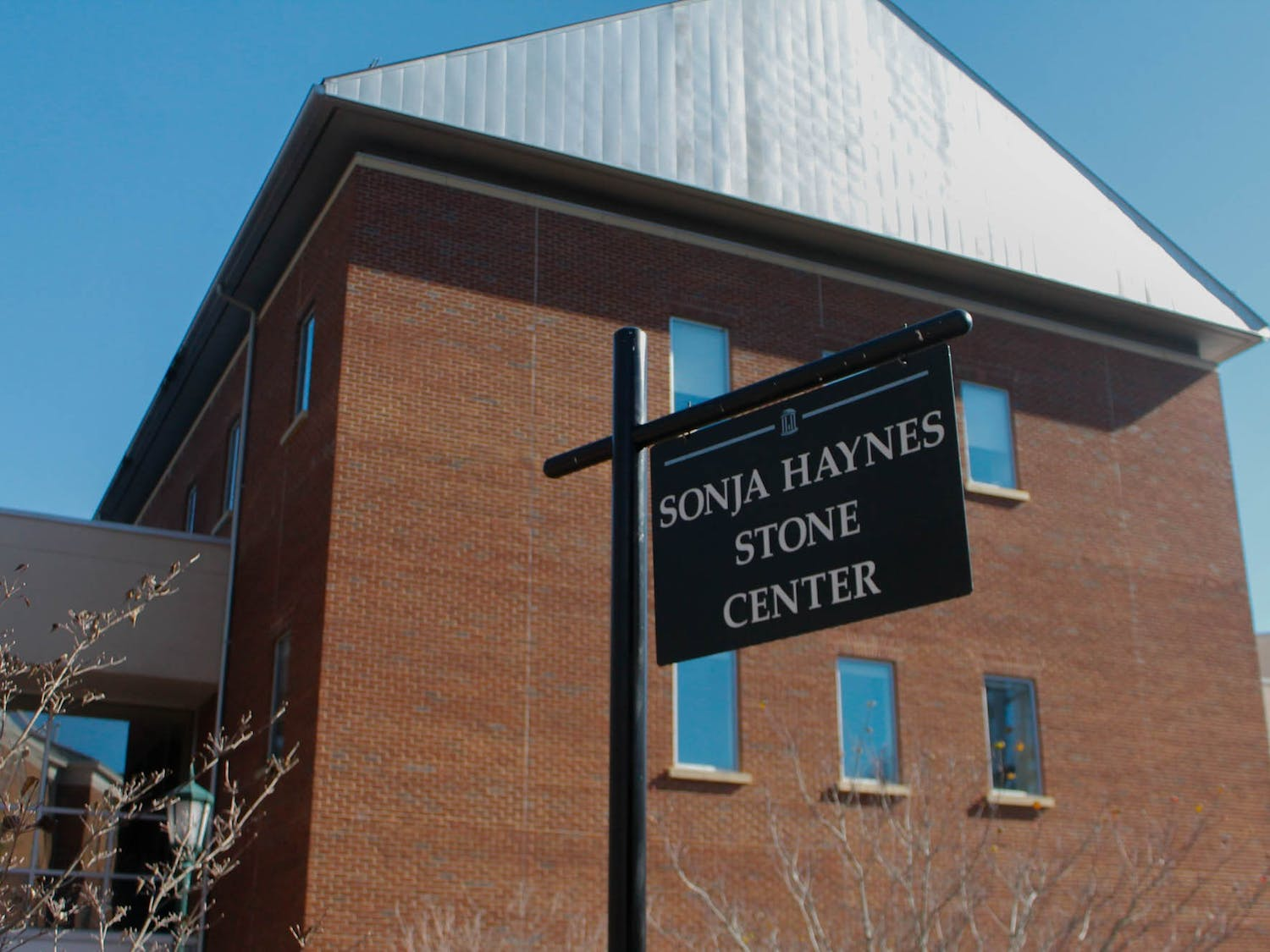 The Sonja Haynes Stone Center pictured on UNC's campus on Sunday, Feb. 9, 2020. The Stone Center will serve as a voting location for the democratic primary on Tuesday, March 3, 2020.