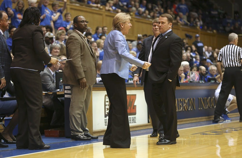 Hatchell erupts in UNC women's basketball loss to Duke