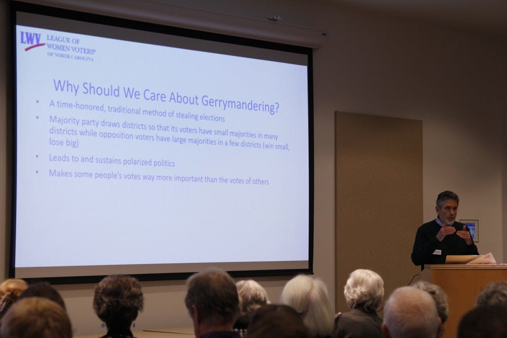 League of Women Voters and Chapel Hill community members discussed gerrymandering in N.C.