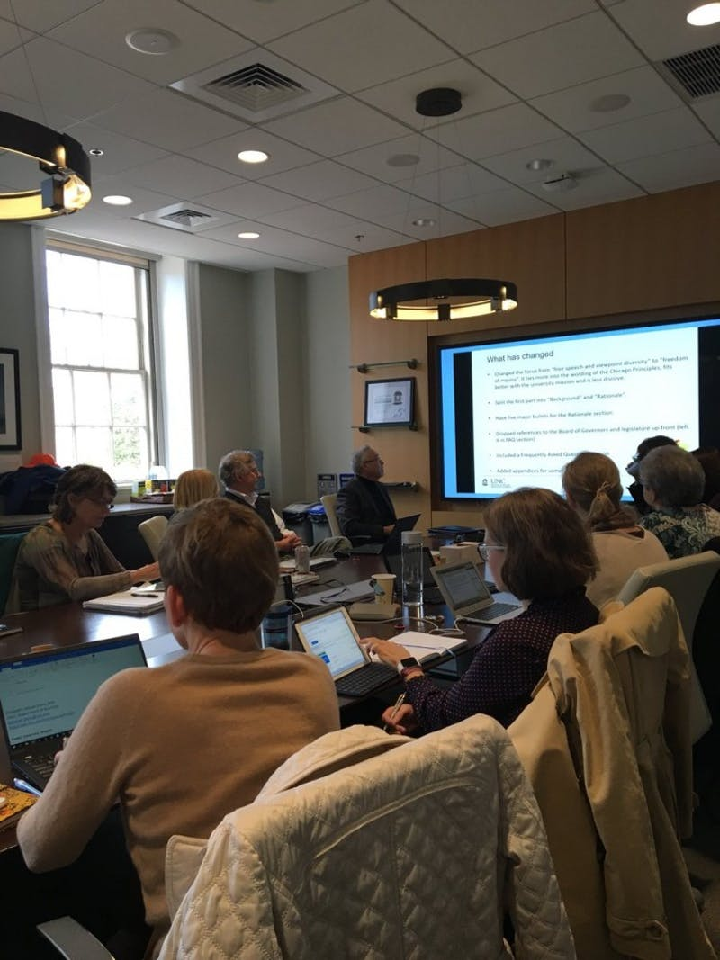 UNC's Faculty Executive Committee met on Monday.