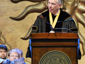Thomas Ross was inagurated as the president of the UNC system in Greensboro on Thursday.