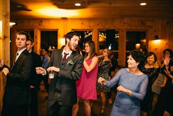 """JuniorStephen Rich (center) and his mom, Biff, drinking La Croix and dancing to """"Soulja Boy.""""Photo courtesy of Stephen Rich"""