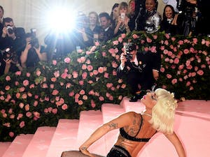 Lady Gaga attending the Metropolitan Museum of Art Costume Institute Benefit Gala on May 6, 2019 in New York, N.Y. Photo courtesy of Jennifer Graylock/PA Wire/Zuma Press/TNS