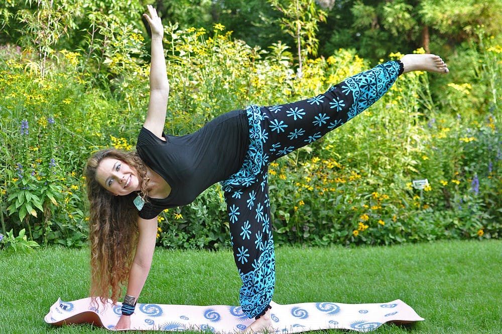 Kamaira Philips is the founder, president and treasurer of Mind, Body, Spirit Connection, a social and wellness organization at UNC. Philips is leading a community yoga class in the Coker Arboretum at 2 p.m. on Friday.