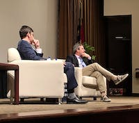 Jonathan Weisman, deputy Washington editor and congress editor at The New York Times, spoke with UNC School of Media and Journalism professor Ryan Thornburg about growing up Jewish in Atlanta, the current state of the press and the rise of bigotry in the United States on Monday.