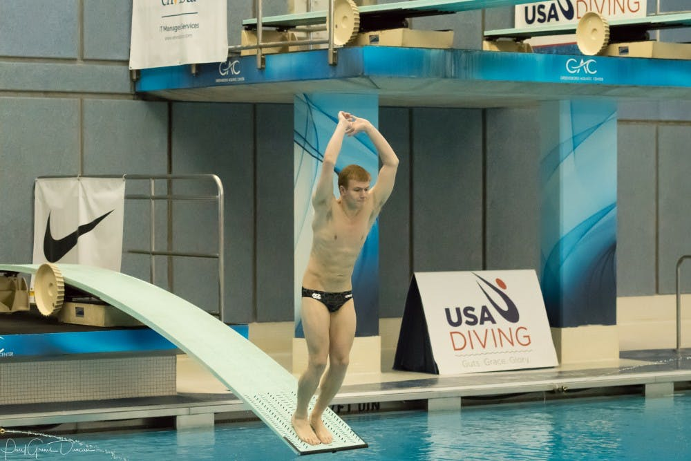 Greg Duncan wins national championship in synchronized three-meter dive for UNC