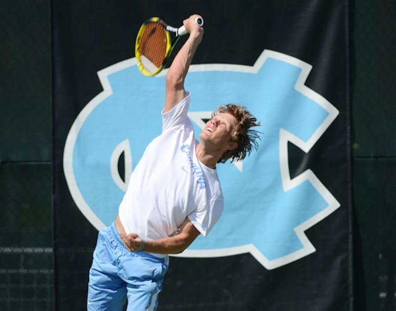 UNC sophomore Esben Hess-Olesen advanced to the National Indoor Championships with a regional final win on Monday.