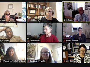 The Faculty Executive Committee meets via Zoom on Sept. 27.
