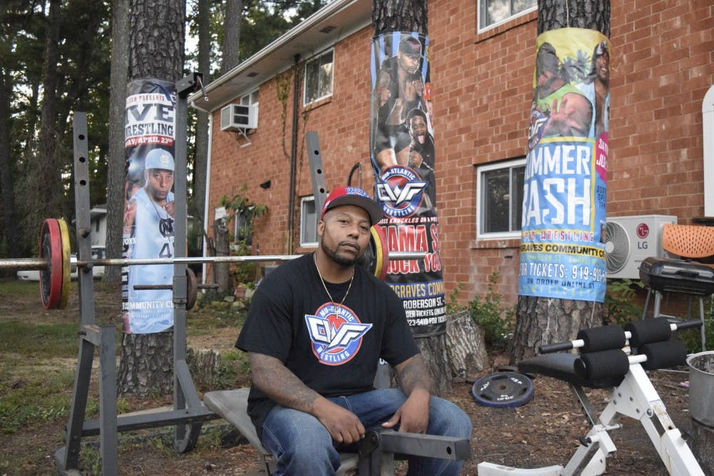 Local legend Snooty Foxx doesn't need a gym. He works out in his front yard.