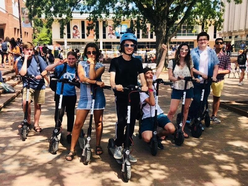 Bird scooters fly away from UNC campus