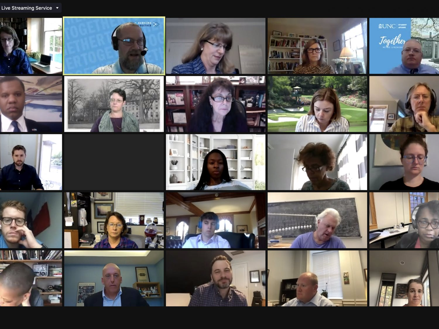 Screenshot from the Campus & Community Advisory Committee meeting held over Zoom on Tuesday, Nov. 10, 2020.