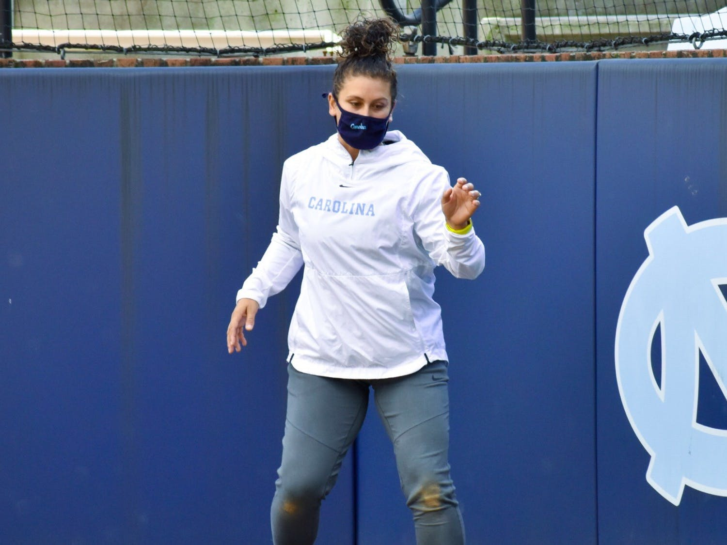 UNC softball recently hired former University of California, Berkeley catcher Annie Aldrete as a volunteer assistant coach. Photo courtesy of UNC Athletic Communications.