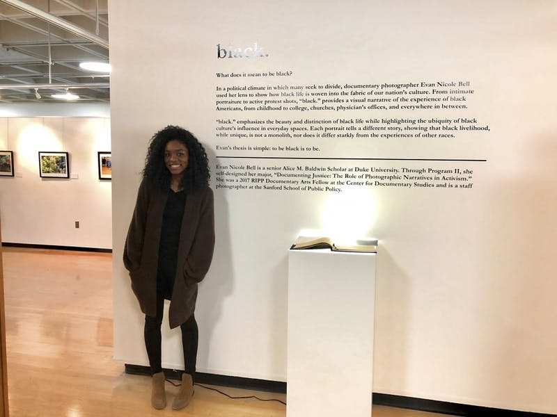 """Evan Nicole Bell, a senior at Duke University, is having her first solo photography exhibit, """"black."""" Photo courtesy of Evan Nicole Bell."""