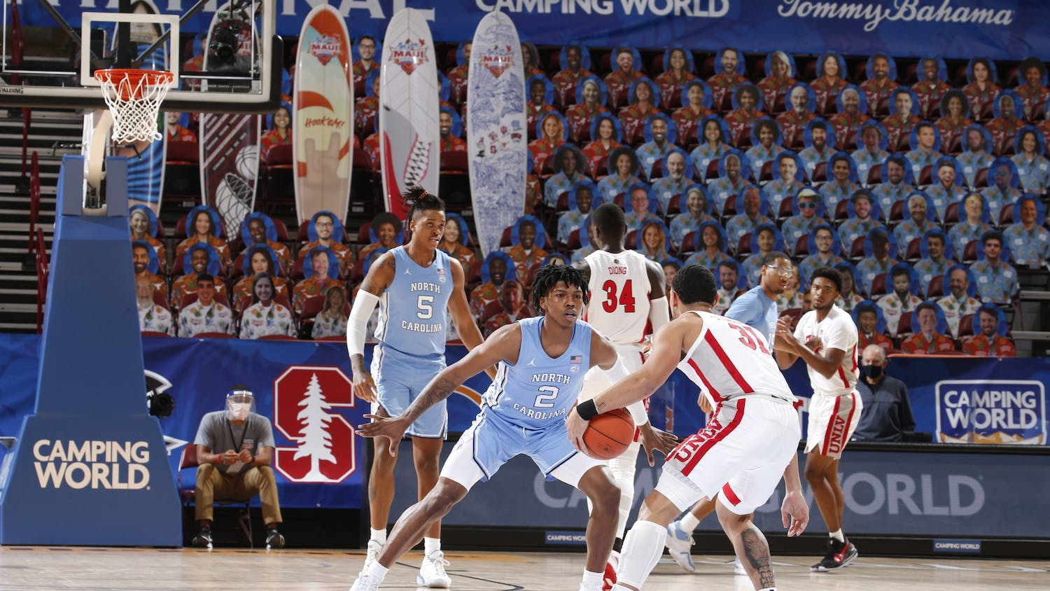 UNC's men's basketball team faced off against UNLV in the first round of the Maui Invitational Tournament in Asheville, N.C. UNC beat UNLV 78-51. Photo courtesy of Brian Spurlock/Camping World Maui Invitational.
