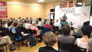Alan Shapiro at a past book discussion at Flyleaf Books. Photo courtesy of Jamie Fiocco.