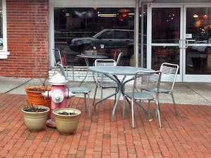 Chapel Hill resident Michael Holland received a ticket for parking in front of the fire hydrant in front ofMediterranean Deli. He says the hydrant was camouflaged by flower pots and faded paint.Courtesy of Michael Holland.