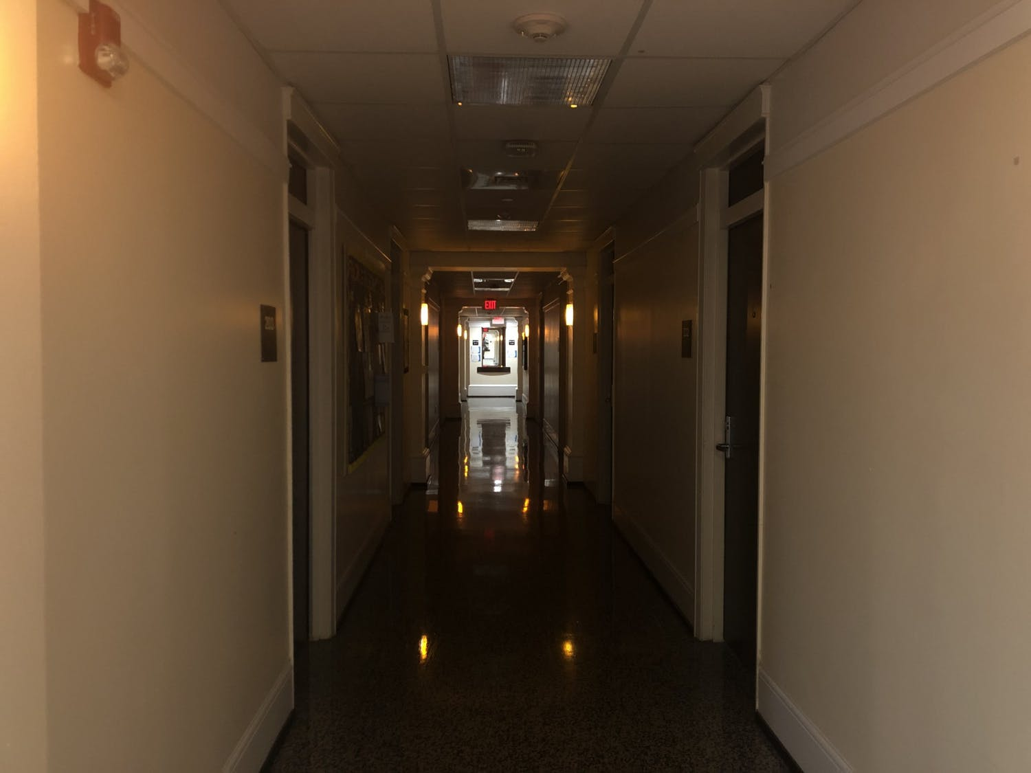A Carolina Housing Residence Hall on Saturday, May 16, 2020 after nearly all of the residents had moved out due to the COVID-19 pandemic.