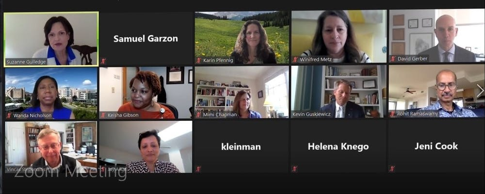 <p>Screenshot from the Faculty Advisory Committee meeting on Thursday, March 25, 2021.&nbsp;</p>